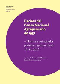 DECIRES DEL CENSO NACIONAL AGROPECUARIO DE 1952